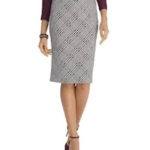 Black House Black Market plaid pencil skirt 6